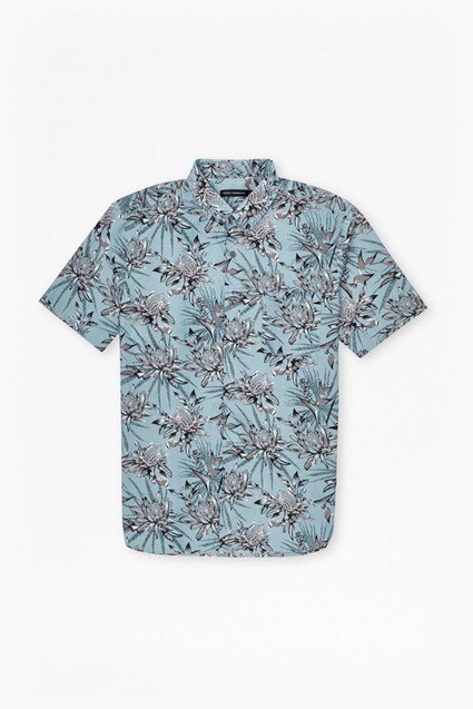 Koko Cotton Floral Short Sleeve Shirt