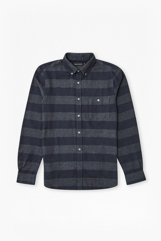 pop flannel stripe shirt
