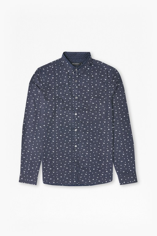 winter premium mix collar shirt