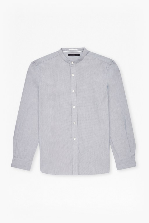 Complete the Look Stripe Grandad Collar Shirt