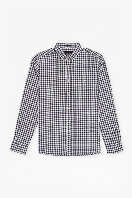 Flannel Herringbone Gingham Shirt