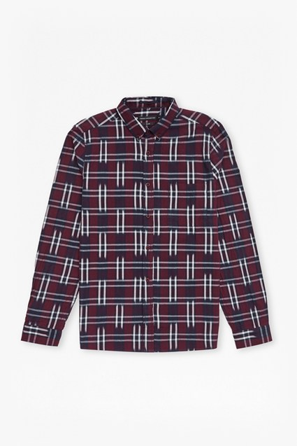 Ikat Check Slim Fit Shirt