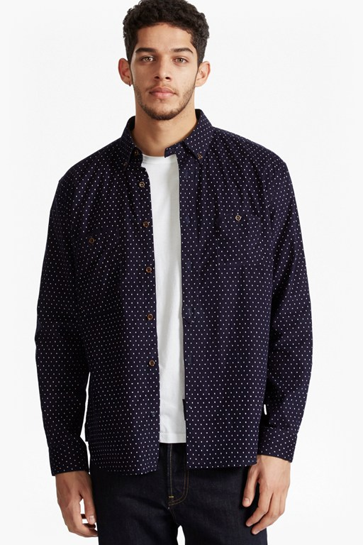 corduroy eggtimer dot regular fit shirt