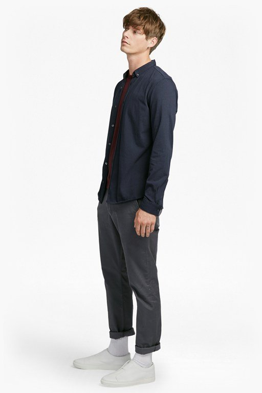 jersey slim fit shirt