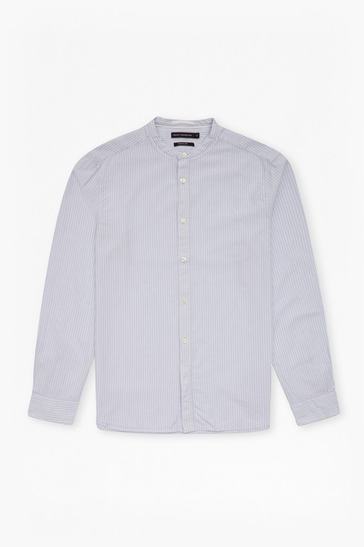core tech poplin grandad collar shirt
