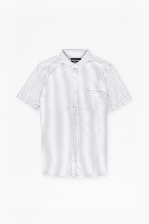 seersucker striped short sleeve shirt