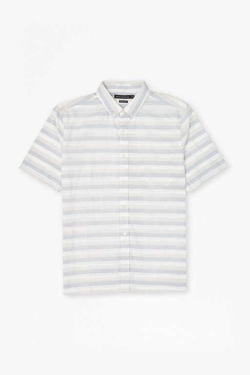 lifeline harvard striped short sleeve shirt