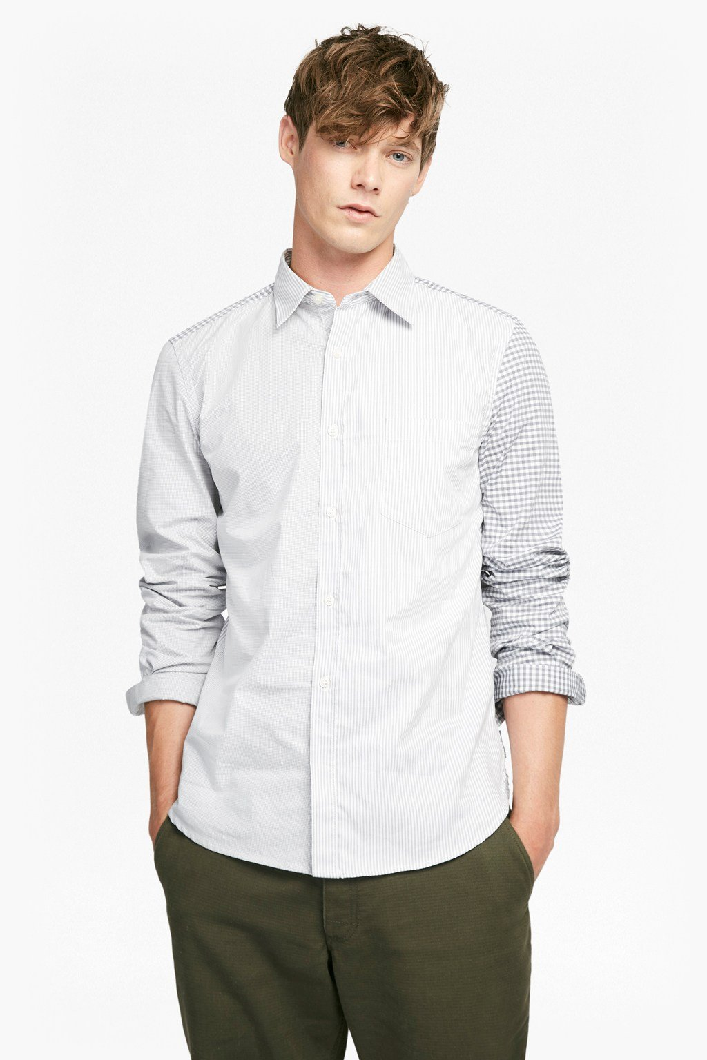 0997e4057ae Patchwork Block Cotton Shirt | Man | French Connection