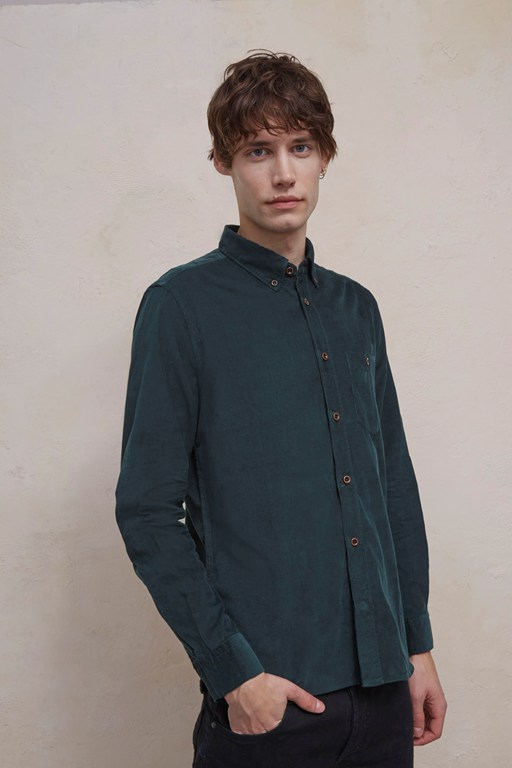 28 wales long sleeved corduroy shirt