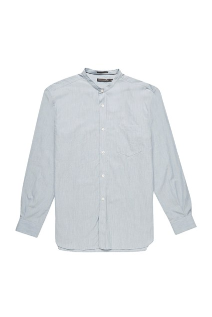 Jeans Zepher Melange Grandad Collared Shirt