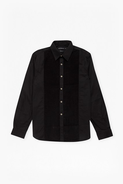 Oxford Corduroy Formal Bib Shirt