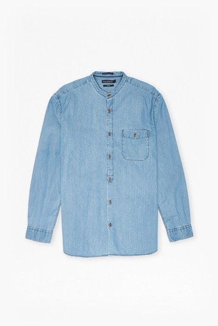 The Three Ages of Denim Grandad Shirt