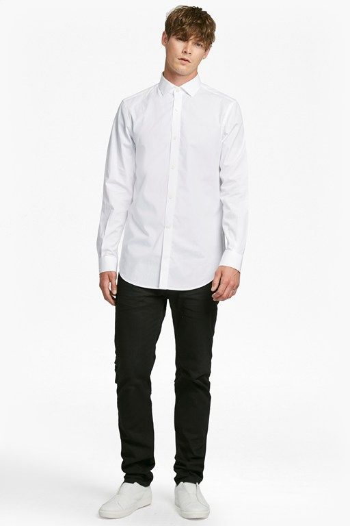 formal cotton cutaway collar shirt