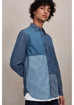 Antique Patchwork Indigo Shirt