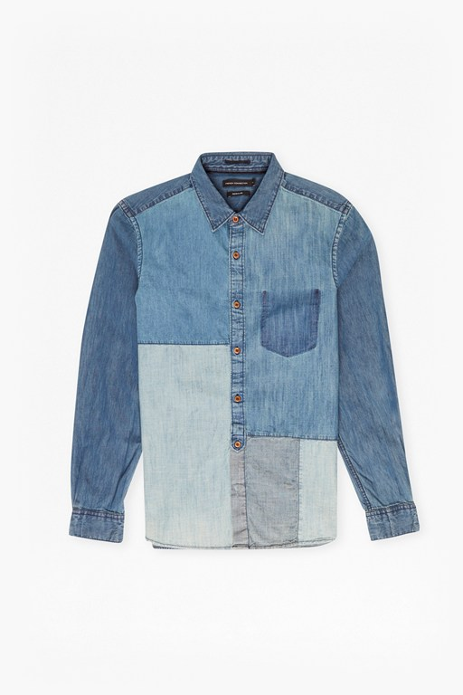 Complete the Look Antique Patchwork Indigo Shirt