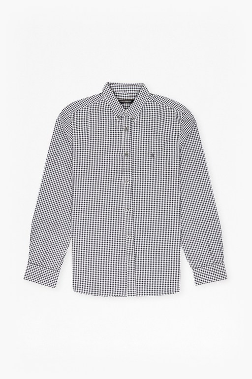 check and stripe long sleeved shirt