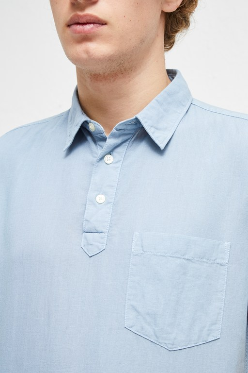 Complete the Look Garment Dye Cotton Linen Shirt