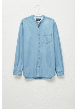Denim Grandad Collar Shirt