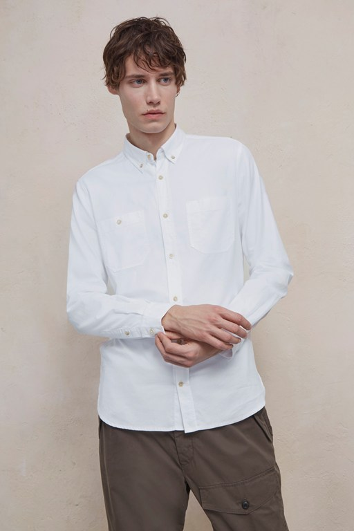 overwashed oxford shirt