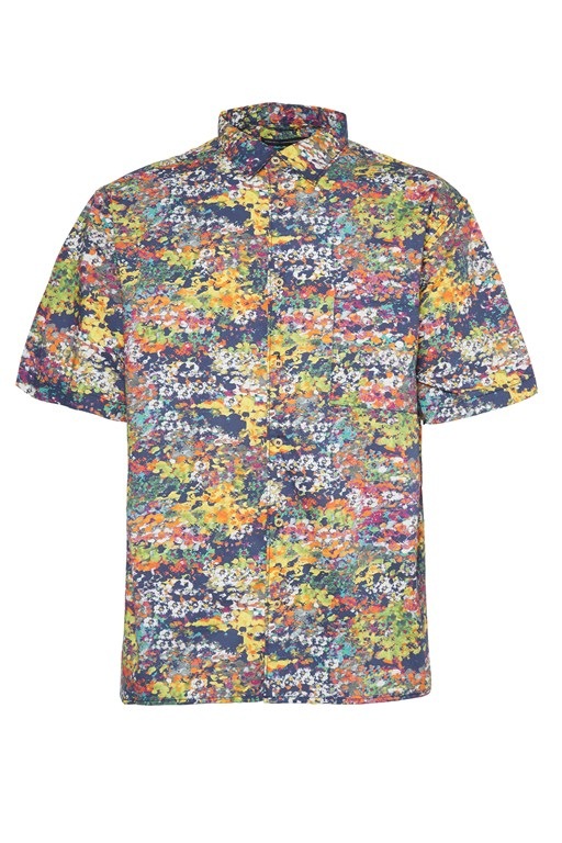 cottage garden floral shirt