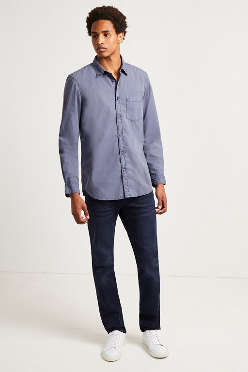 overdyed cotton poplin shirt