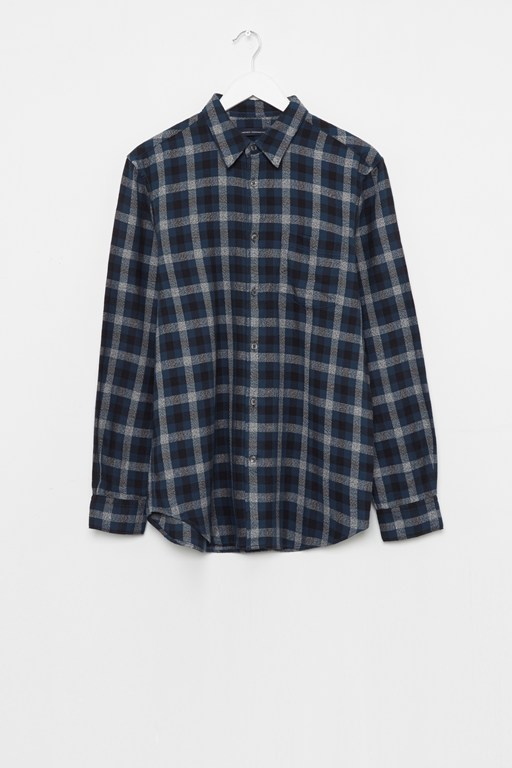 subtle dobby check shirt