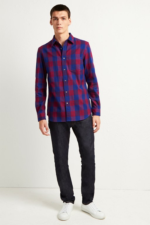 kahama flannel check shirt