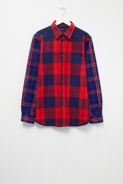 Flannel Patchwork Shirt