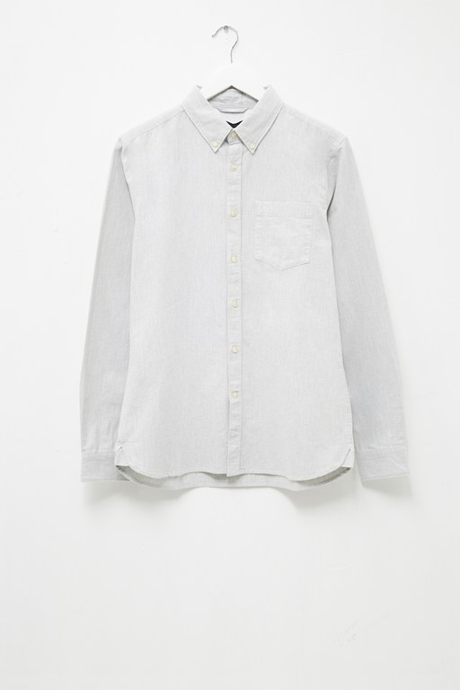 melange oxford shirt
