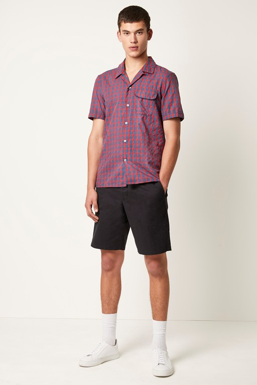melange gingham check shirt