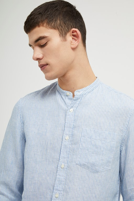 soft stripe linen shirt