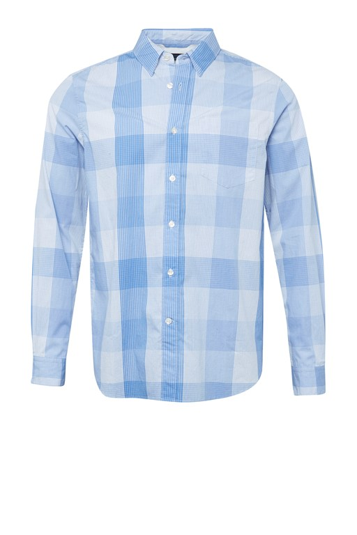 contrast pin check shirt