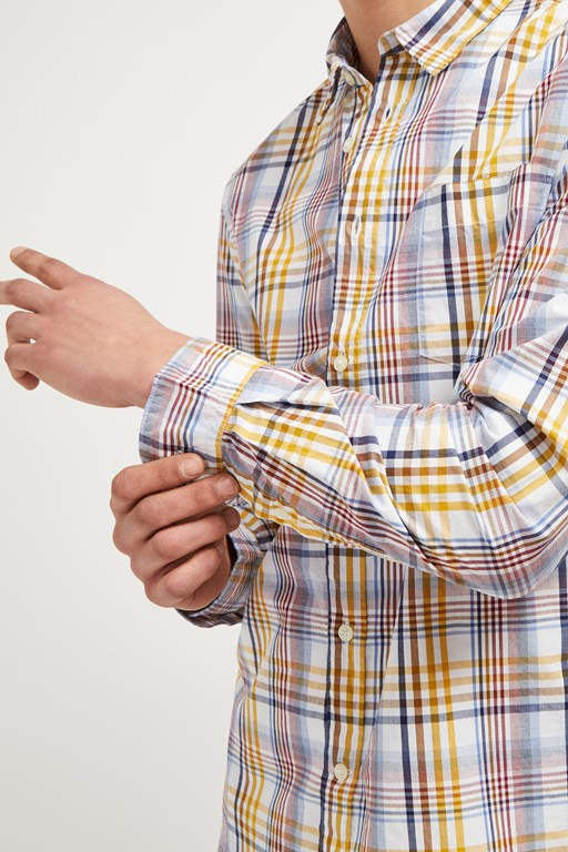 colourful check shirt