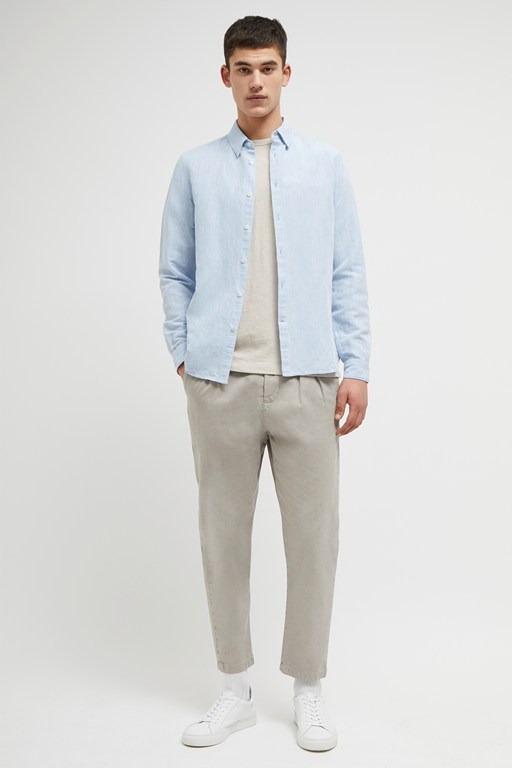 chambray linen cotton shirt