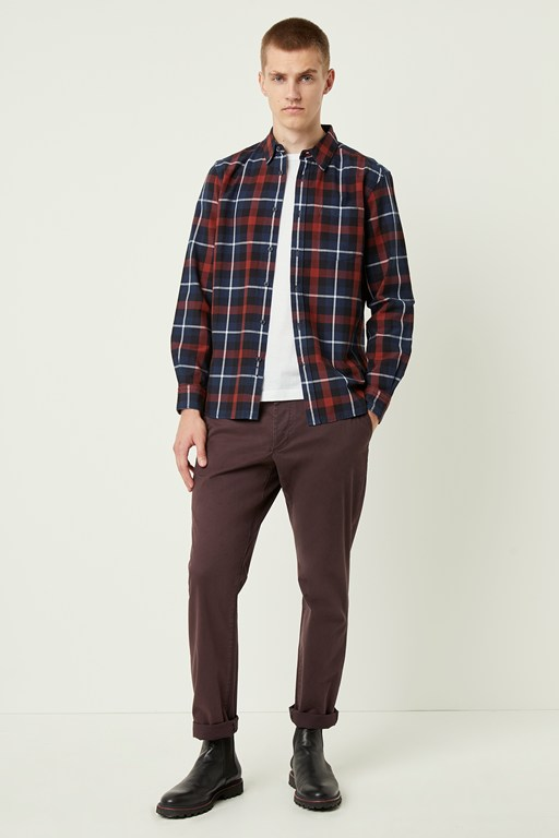 broad check shirt