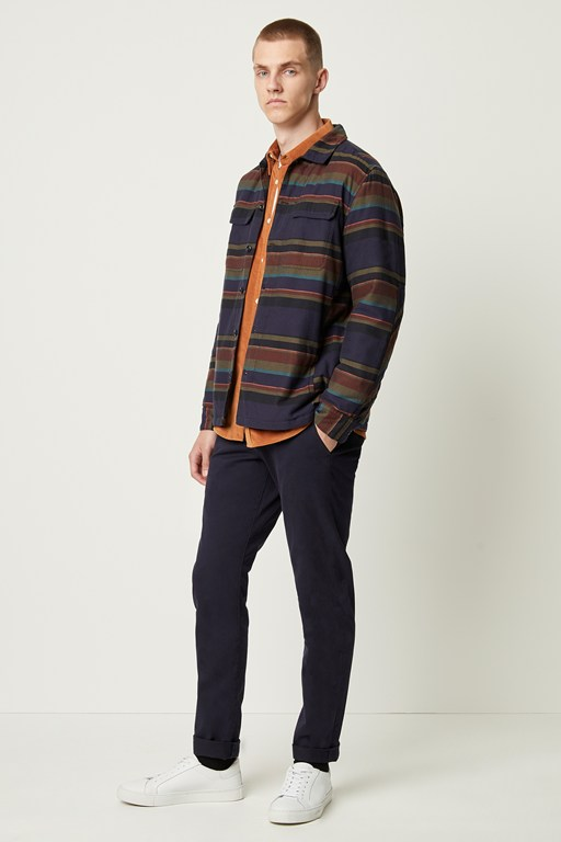 twill stripe jacket