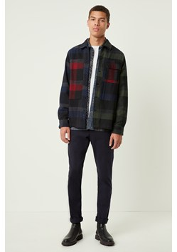 Dotted Flannel Check Patchwork Shirt