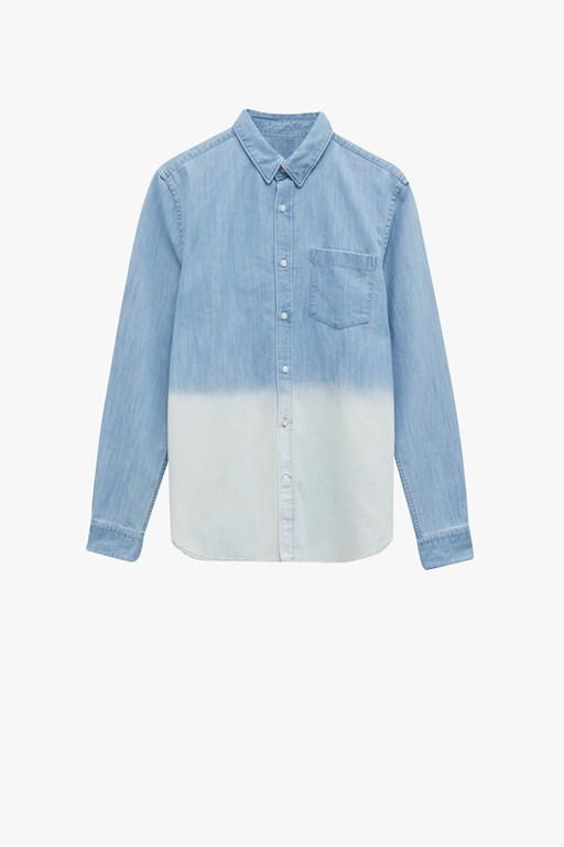 slub denim shirt