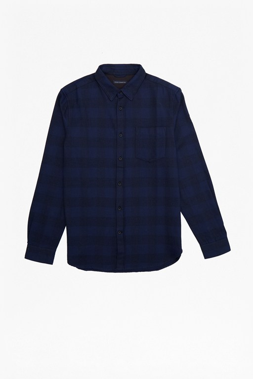subtle check flannel shirt