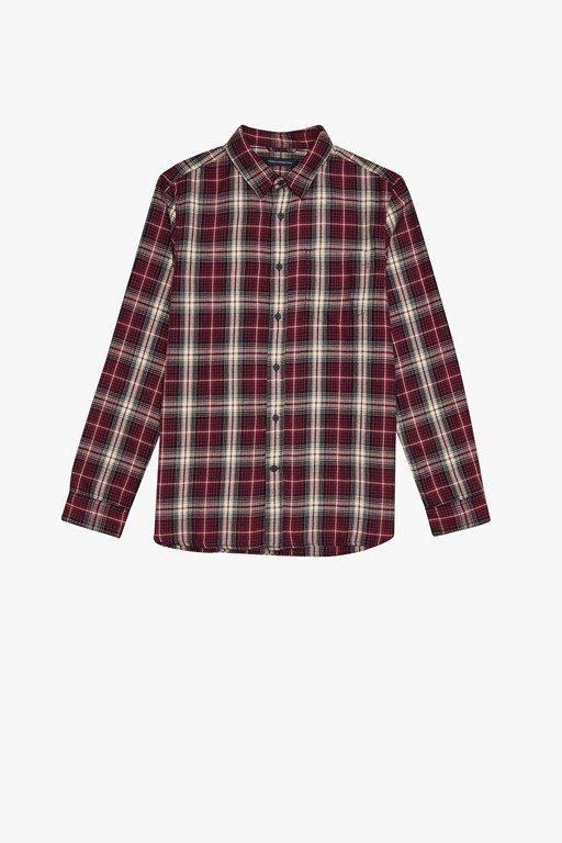 frost wash checked shirt