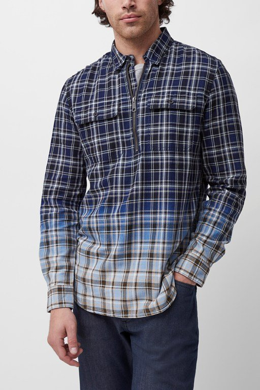 snowfinch check popover shirt