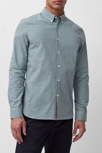 Spaced Micro Check Shirt