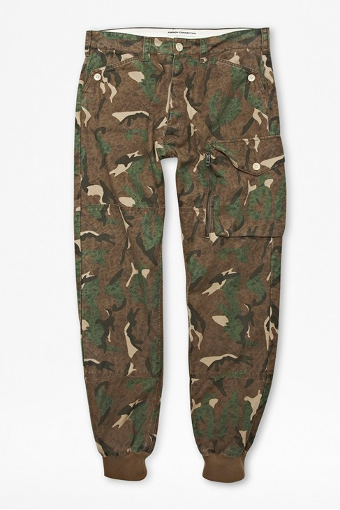 Painted Camouflage Trousers