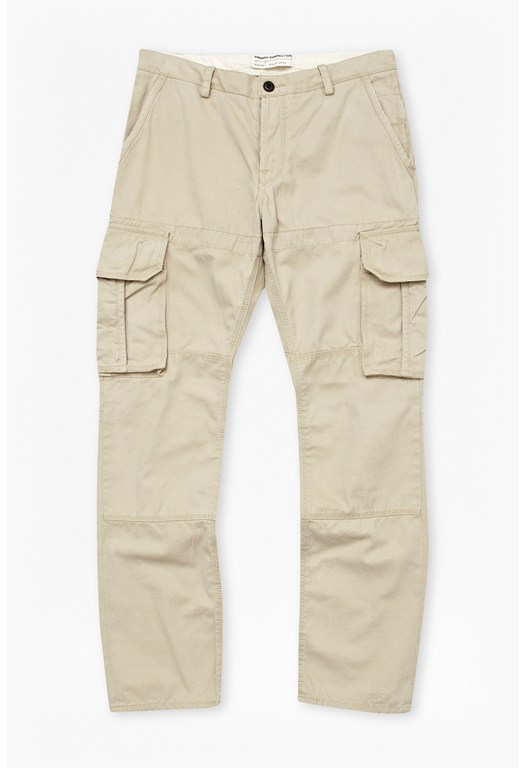 Watercolour Cotton Cargo Trousers