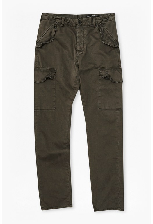 Rifle Satin Cargo Trousers