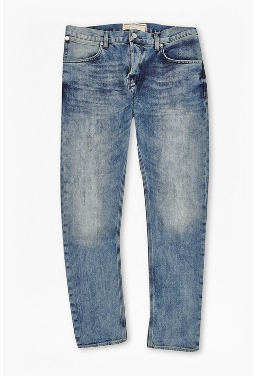 Dot Faded Denim Jeans