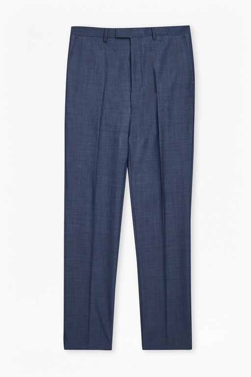 Complete the Look MB Blue Wool Blend Trousers