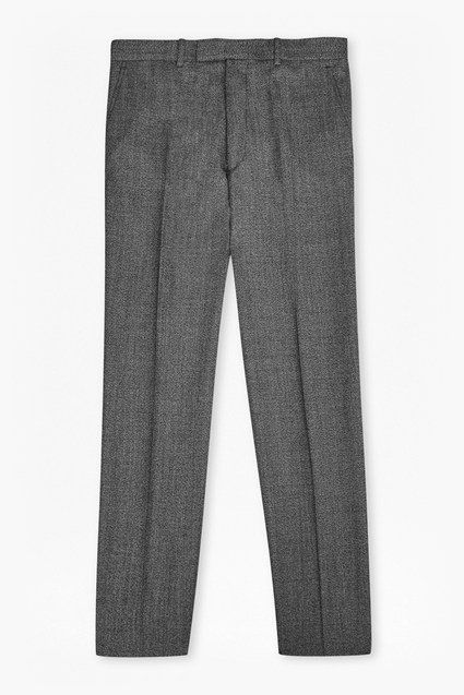 Light Grey Textured Trousers