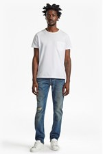 Looks Great With Plaited Stretch Distressed Straight Leg Jeans
