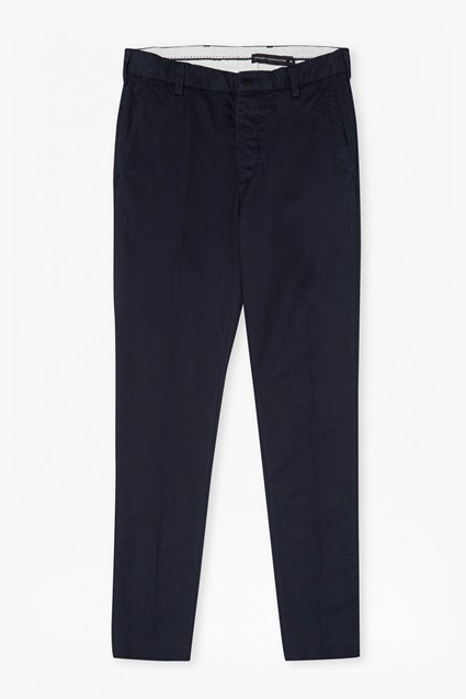 Dobby Cotton Chino Trousers